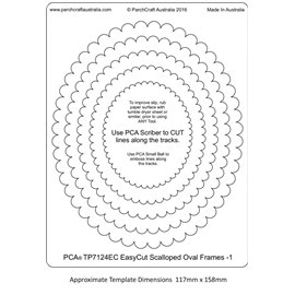 Gabarit easycut PCA coupe le papier parchemin ovale dentelé 1