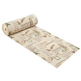 Tissu décoratif lin motifs calligraphie 3 mètres