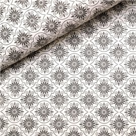 Papier à motifs andalus blanc et sepia