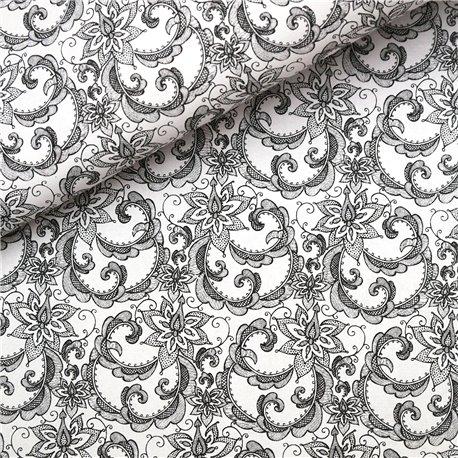 Papier à motifs angelina blanc et noir