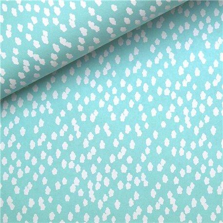 Papier à motifs céleste blanc nuage bleu turquoise