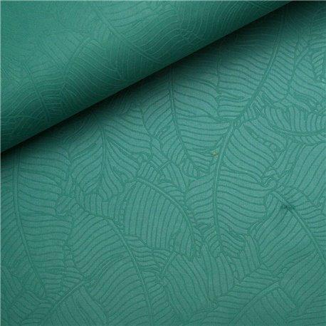 Papier fantaisie amazonia feuilles bleu-vert