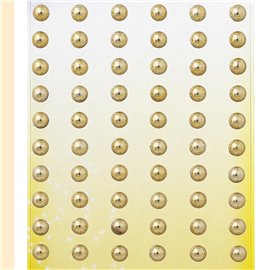 Stickers adhésifs demi perles doré 60p
