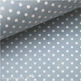 Papier népalais lokta bulles gris bleuté et blanc