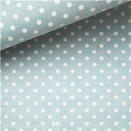 Papier népalais lokta bulles bleu et blanc