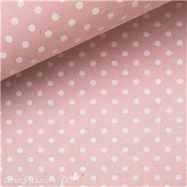 Papier népalais lokta bulles rose et blanc