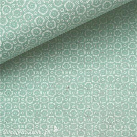 Papier népalais lokta retro vert et blanc