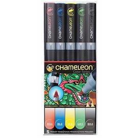 Chameleon feutres couleurs primaires 5 feutres CT0502