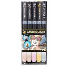 Chameleon feutres couleurs pastels 5 feutres CT0501