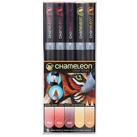 Chameleon feutres couleurs tons chauds 5 feutres CT0511