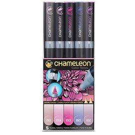 Chameleon feutres couleurs tons floral 5 feutres CT0512