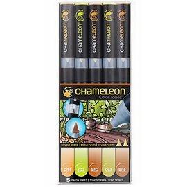 Chameleon feutres couleurs tons terre 5 feutres CT0503