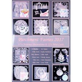 Livre Pergamano Parchment Fairies 2017 11 décorations de noel et 22 mini cartes