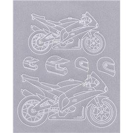 Gabarit tracage parchemin Template PCA moto n°2