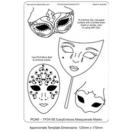 Gabarit tracage parchemin Template PCA masque de carnaval