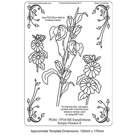 Gabarit tracage parchemin Template PCA fleurs n°8
