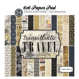 Papier scrapbooking assortiment transatlantic travel 24fe