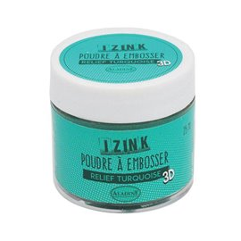 Poudre à embosser Aladine izink 25 ml turquoise