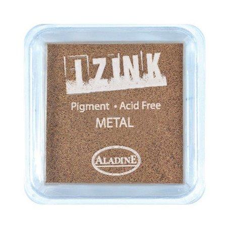 Encreur tampon Aladine pigment Izink séchage lent cuivre