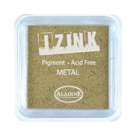 Encreur tampon Aladine pigment Izink séchage lent doré