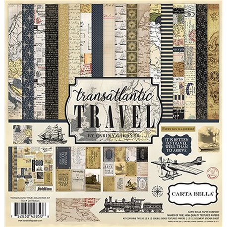 Papier scrapbooking assortiment transatlantic 12fe