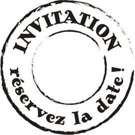 Tampon bois woodies invitation réservez la date