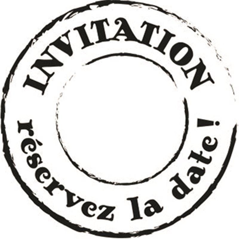 Tampon Bois Invitation R 233 Servez La Date Cartes