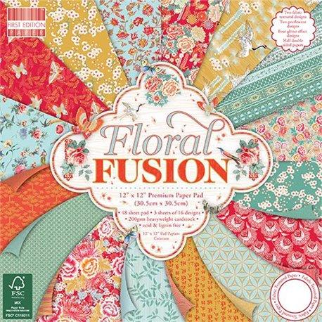 Papier scrapbooking assortiment floral fusion 48fe