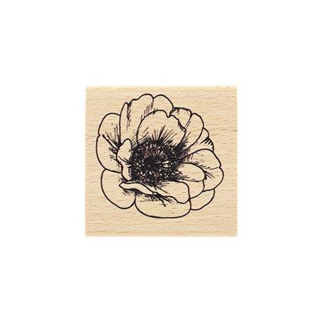 Tampon bois fleur éclose