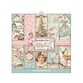 Papier scrapbooking assortiment sweet christmas 20f recto verso