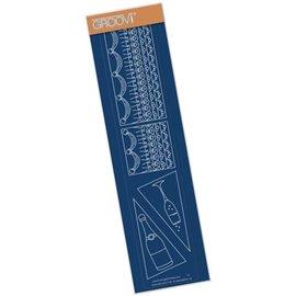 Règle tracage bordures du parchemin Groovi décoration gateaux