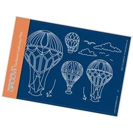 Gabarit tracage du parchemin montgolfières Groovi