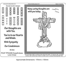 Gabarit tracage parchemin Template PCA crucifix