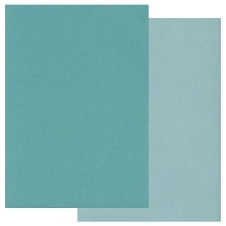 Pergamano paquet papier parchemin bleu 2 tons 40191 Groovi 20 feuilles