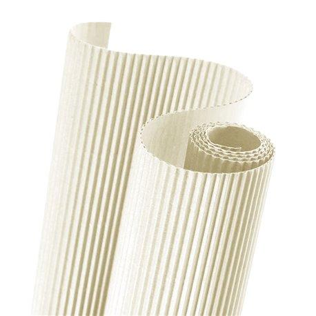 Papier carton ondulé couleur crème