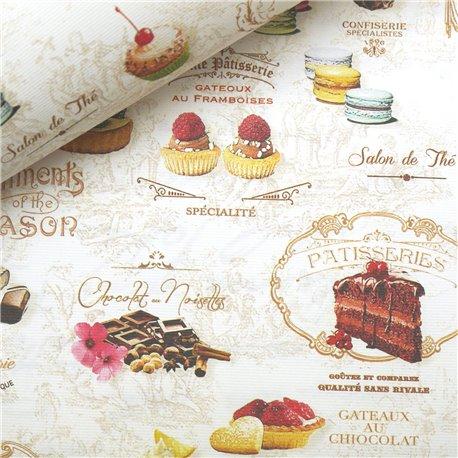 Papier italien motifs sweet laduree