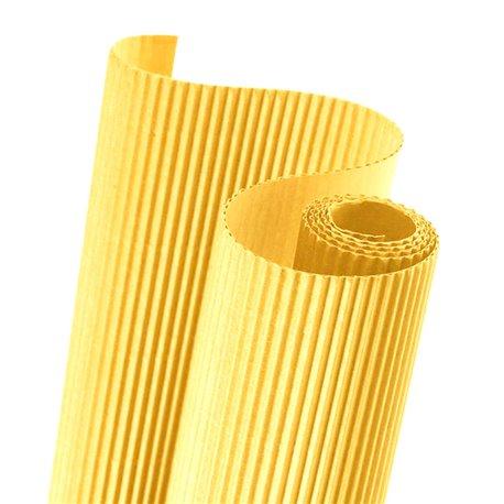 Papier carton ondulé couleur jaune vif