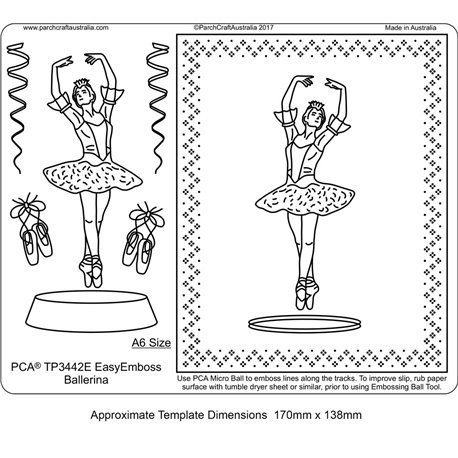 Gabarit tracage parchemin Template PCA danseuse ballerine