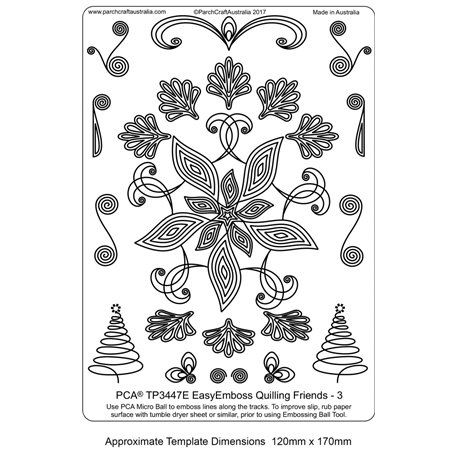 Gabarit tracage parchemin Template PCA quilling 3
