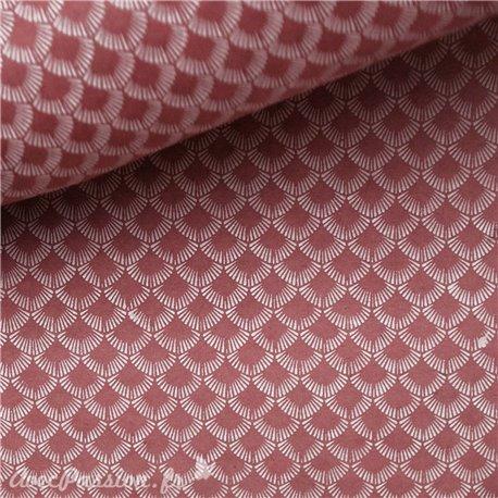 Papier népalais lokta lama vieux rose et blanc
