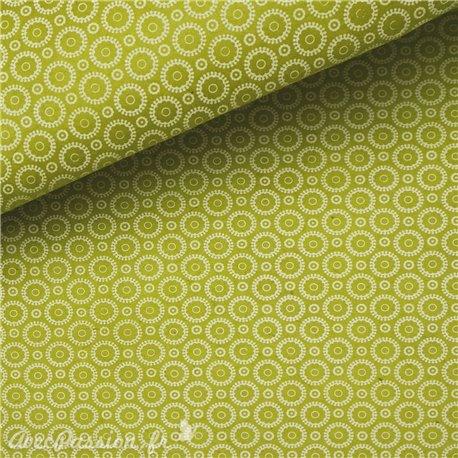 Papier népalais lokta retro vert anis et blanc