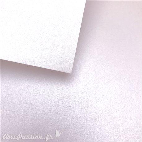 Papier uni rose bristol métallique