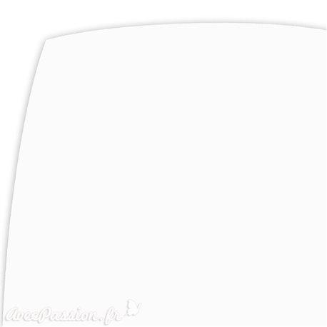 Papier uni blanc bristol métallique