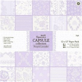Papier scrapbooking assortiment capsule french lavande 32fe