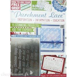 Parchment Lace magazine Pergamano noël 2017 + 1 grille de motifs