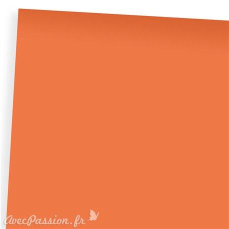 Papier uni orange bristol