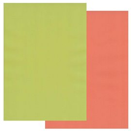 Papier parchemin Groovi assortiment 2 tons orange lime 40776 10 feuilles