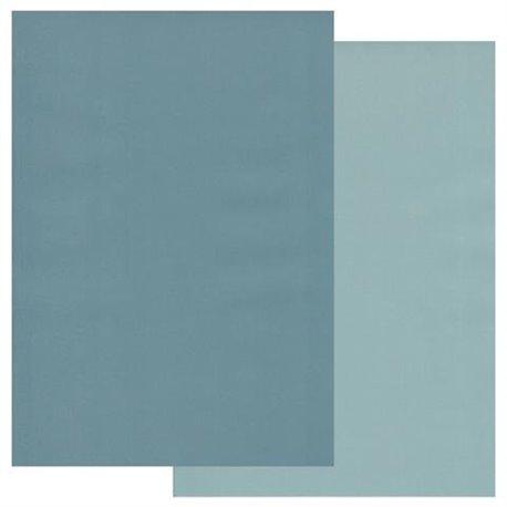 Papier parchemin Groovi assortiment 2 tons bleu petrole bleu fumee 40774 10 feuilles
