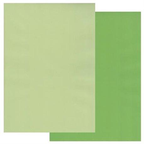 Papier parchemin Groovi assortiment 2 tons de vert 40770 10 feuilles