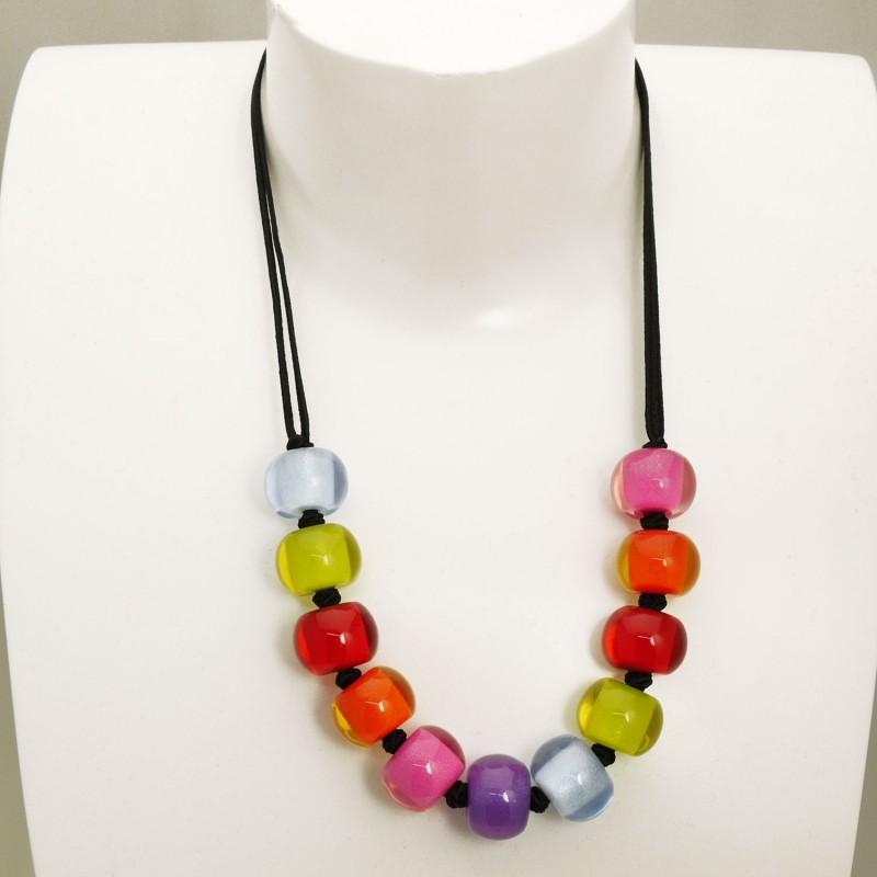 collier fantaisie multicolore
